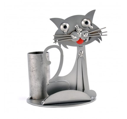 Cat Business Card Holder - Metal Card Holder