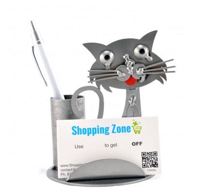 Business card holder metal business card holder sculpture cat business card holder save colourmoves