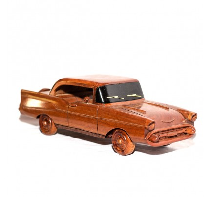 1957 Chevy Belair Wooden Car model - Mahogany Wood