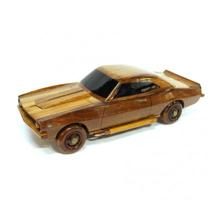 Chevrolet (Chevy) Camaro Wood Car Model  Wooden Hand Carved