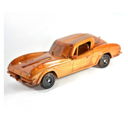 Wooden Chevrolet Corvette Stingray 1960s Car model - Mahogany Wood