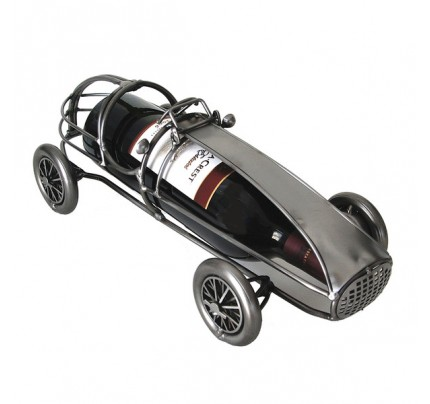 Metal classic Race Car 1 Bottle Tabletop Wine Rack