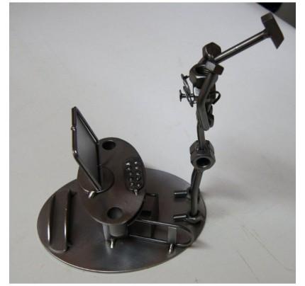 Metal Computer Frustration Sculpture
