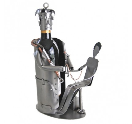 Doctor with Patient 1 Bottle Tabletop Wine Rack
