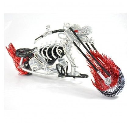 Dragon Motorcycle Model - Wire Art Model in Red