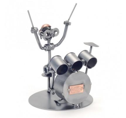 Metal Drummer Sculpture
