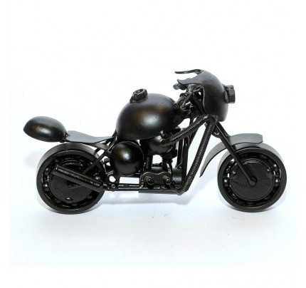 Ducati Sport Motorcycle Scrap Metal Art Sculpture - Black Medium