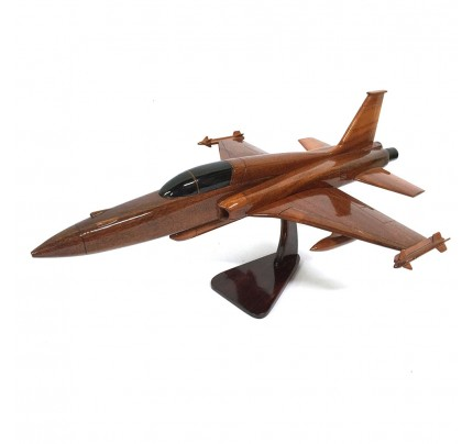 F-16 Falcon Fighter Aircraft Model - Wooden Army Airplane