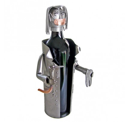 Female Dentist 1 Bottle Tabletop Wine Rack