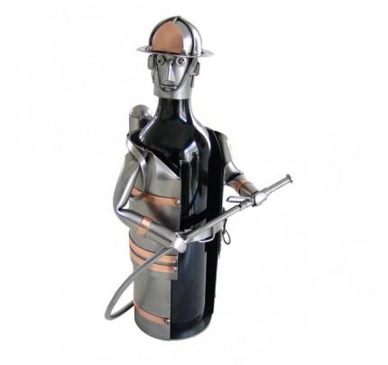 Fireman Wine Bottle Holder