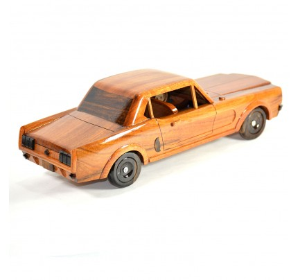 Mahogany Wood Model Car - Ford Mustang 1964