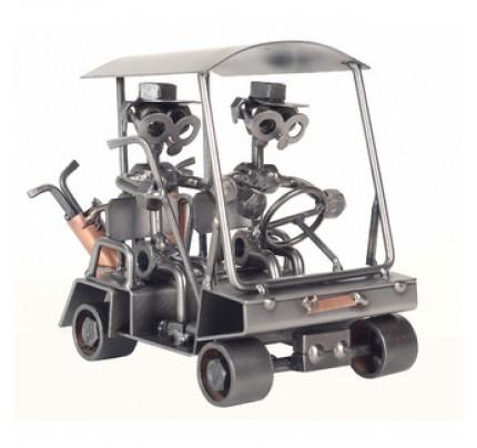 Golf Cart Sculpture - Scrap Metal Sculpture