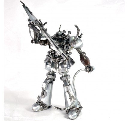 Gundam Exia - Hero fighter robot - Metal sculpture