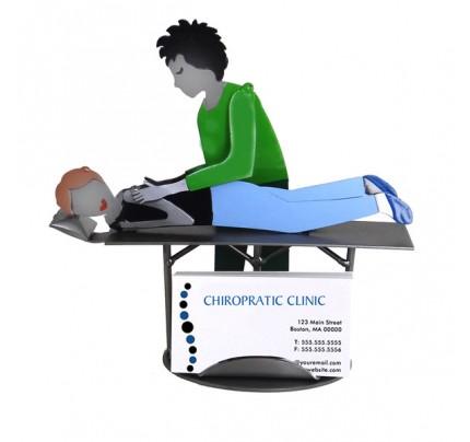 Chiropractor Female Business Card Holder
