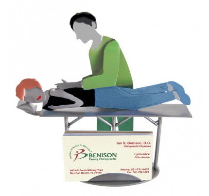 Chiropractor Male Business Card Holder