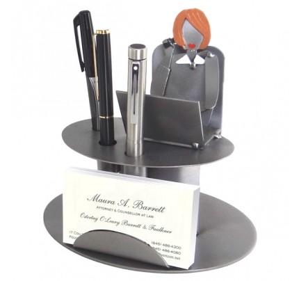 Desk Accessory Female Executive Business Card Holder