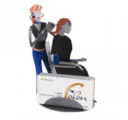 Hair Stylist Female Business Card Holder