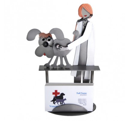 Veterinarian Female Business Card Holder