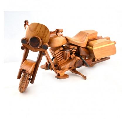Harley Davidson Police (Cop) Wooden Motorcycle Model