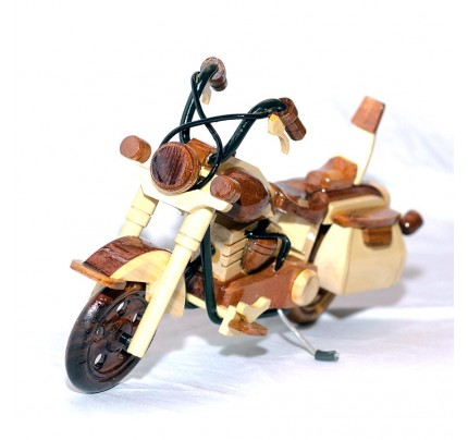 Harley Davidson Wooden Motorcycle Model : Desk Model (2 colors)