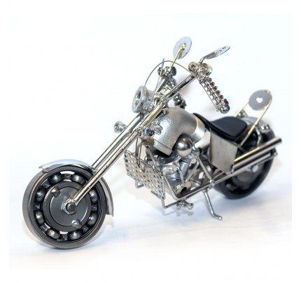 Harley Davidson Metal Motorcycle Model 35cm Sculpture - medium