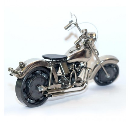 Harley Davidson Metal Art Sculpture (Gray & Black) 35cm