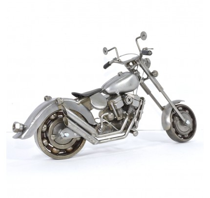 Harley Davidson Recycled (Scrap) Metal Art Sculpture 11 inches
