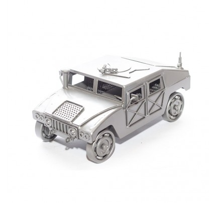 Military Humvee (Gray) Model Scrap Metal Sculpture ( type 2 )