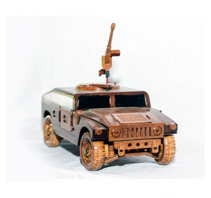 Mahogany Military HUMVEE Model with 50cal machine gun