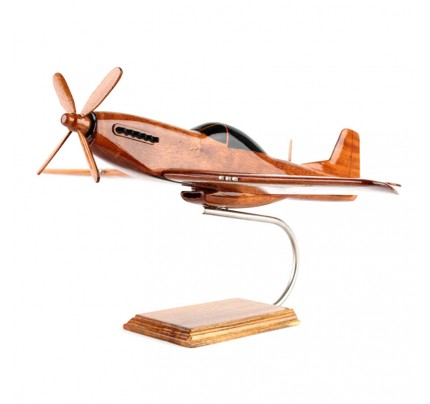 P-51 Mustang Fighter Mohogany Wood Model - Aircraft