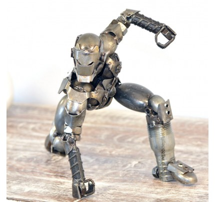 Iron Man Marvel Scrap Metal Sculpture Model Recycled Handmade