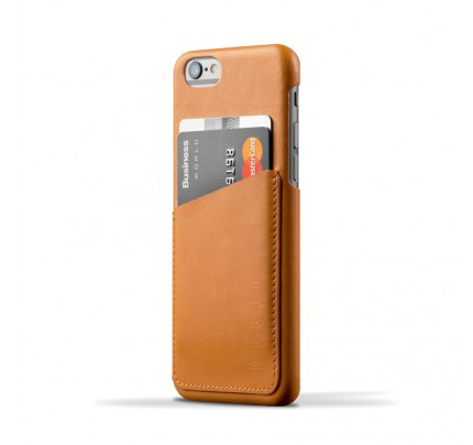 Leather Wallet Case for iPhone 6 (s) - Tan Color