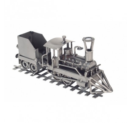 Recycled metal Locomotive Train Sculpture