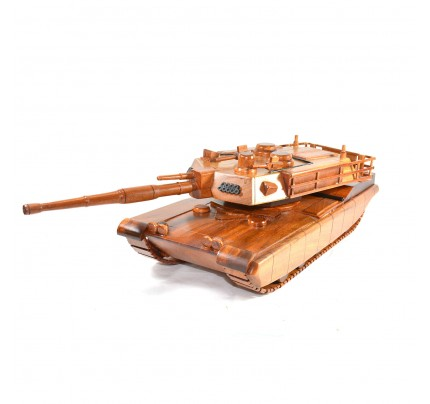 M1A2 Abrams Military Wooden Tank Model - Mahogany Army Tank
