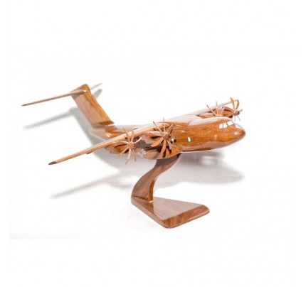 Airbus Military A400M Solid Mahogany Wooden Airplane Scale Model