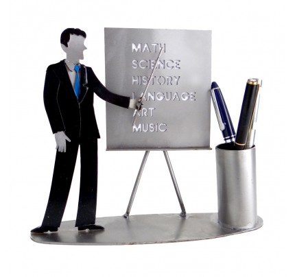 Male Teacher Pen Holder