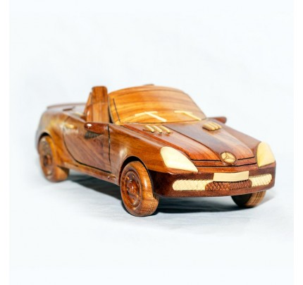 Mercedes Wooden Car Model - Mahogany Wood