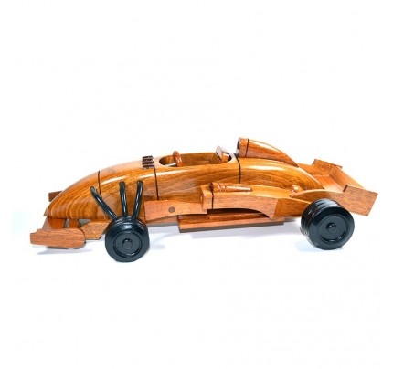 Formula 1 Wooden Race Car Model - Mahogany Wood
