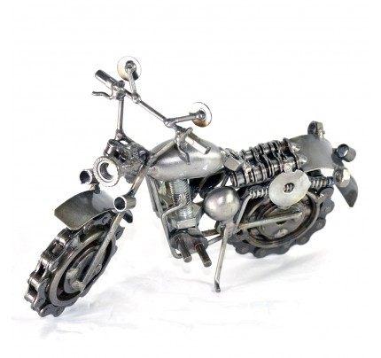 Dirt Bike / Motorcycle Metal Model : Metal Sports Motorcycle Sculpture