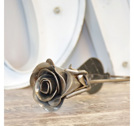 Rose Valentine Recycled Metal Model Handmade Art Sculpture Gift
