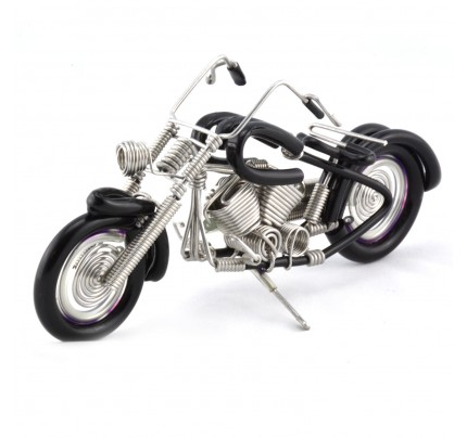 Wire Art Motorcycle Black - Handmade Aluminium Wire Art Sculpture small