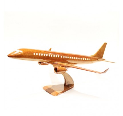 Boeing Mitsubishi Airplane Solid Mahogany Airplane Wooden Model (big)