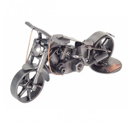Motorcycle Fat Boy Sculpture - Metal Model
