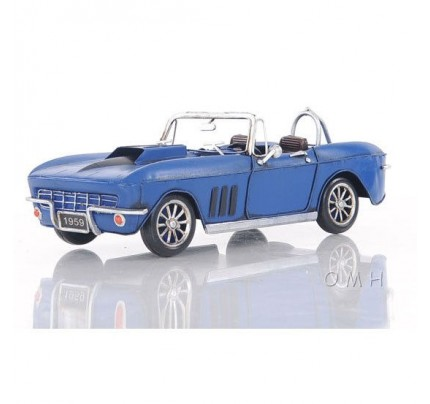 Blue Chevrolet Corvette - Scale Model