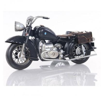 Black Vintage Motorcycle Scale Model
