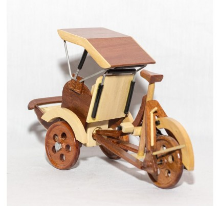 Wooden Pedicab Hand Crafted : Wood Desk Model