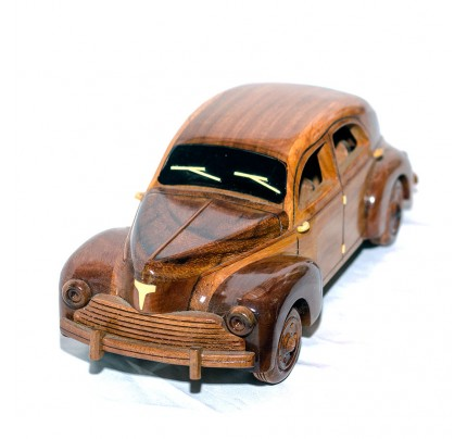 Mahogany Vintage Peugeot Car ssd 203 sedan 1951: High quality scale model