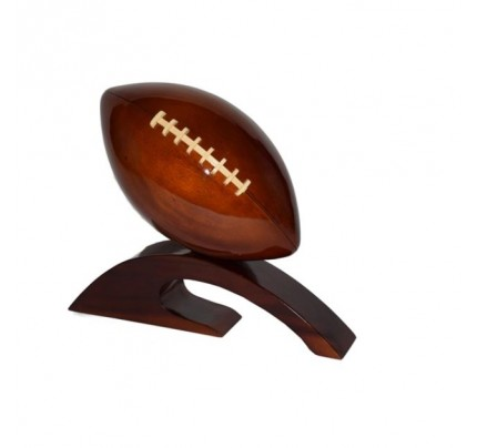 Mahogany Wooden Football Model : Handcrafted
