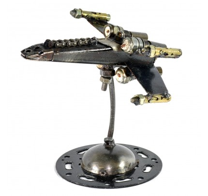 Star Wars X-Wing Fighter Spaceship - Metal Sculpture Model / statue