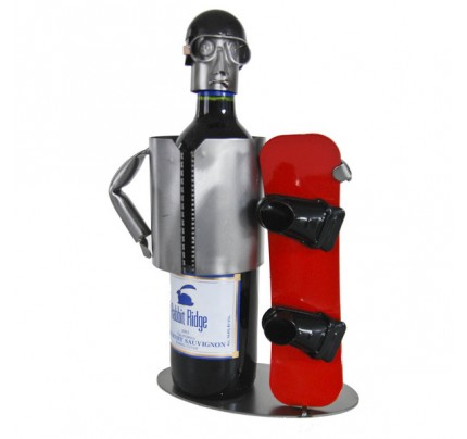 Snowboarder 1 Bottle Tabletop Wine Rack